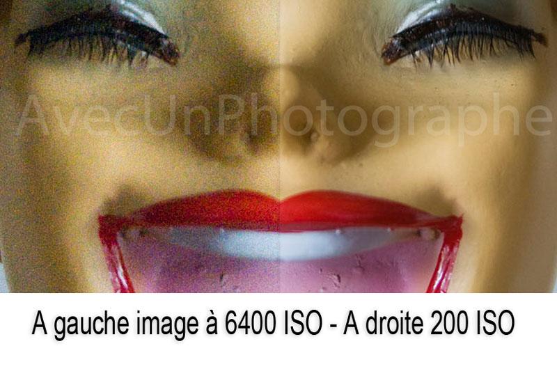 BRUIT DE CHROMINANCE - SENSIBILITé ISO