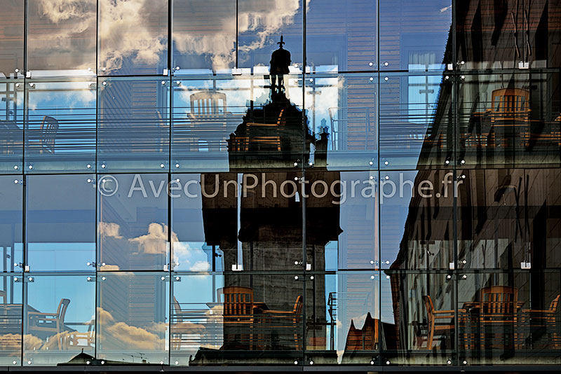 photo de reflets sur verre