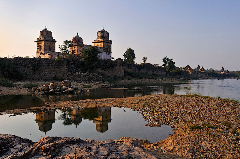Temple orchha - photo de reflets