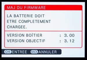 Mise à jour du Firmware Fujifilm XT1