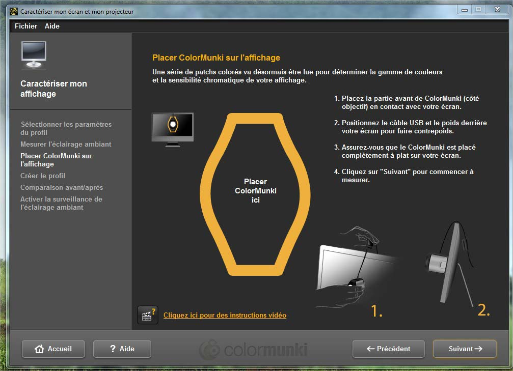calibration écran avec sonde colormunki display _07