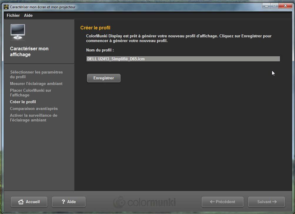 calibration écran avec sonde colormunki display_08