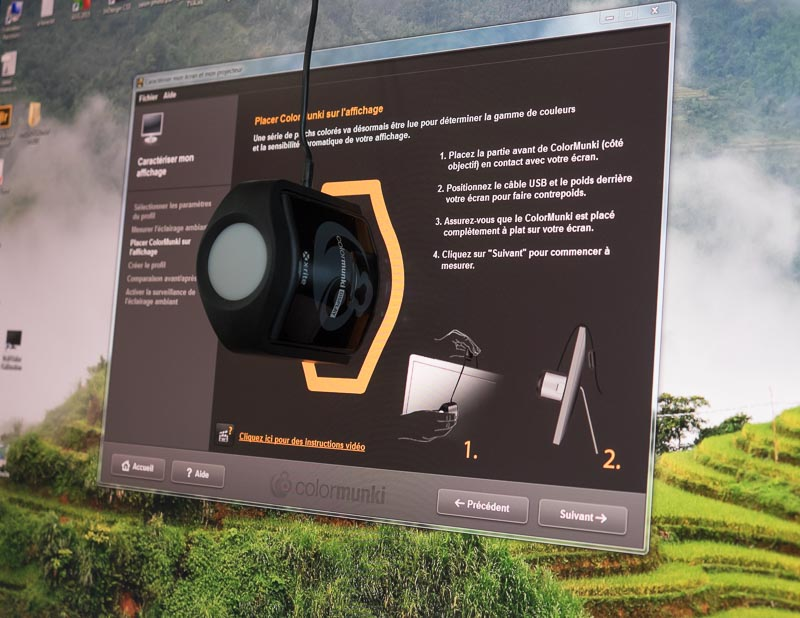 calibration écran avec sonde colormunki display -3