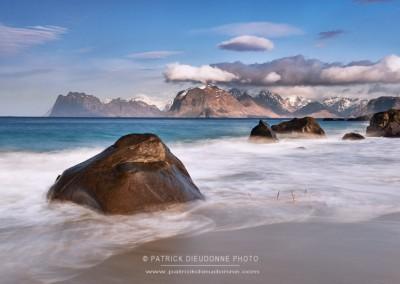 Myrland beach, Lofoten, Norvège