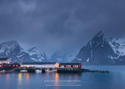 Soir de neige, Lofoten, Norvège