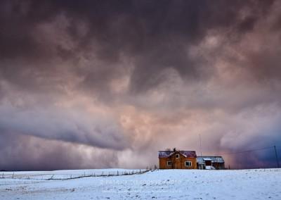 Averse de neige, Lofoten, Norvège