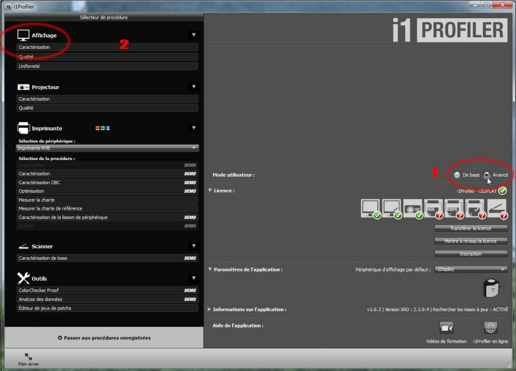 sonde i1 display Pro - mode avancé