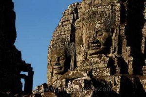 Cambodge, Site d'Angkor classé au Patrimoine Mondial de l'UNESCO, temple du Bayon, construit au milieu XII - début XIII siècle par le roi Jayavarman VII - //Cambodia, Angkor on World Heritage list of UNESCO, Bayon temple, built in XII-XIII century by King Jayavarman VII