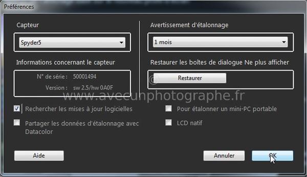 03B_Activation de Spyder5Express de Datacolor