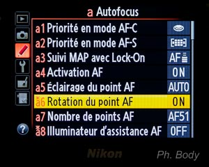 rotation du point AF
