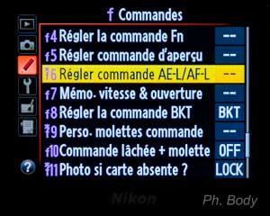 AF-ON chez Nikon