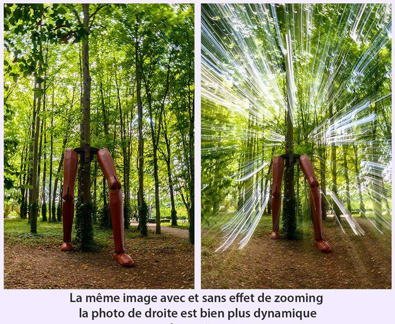 effet de zooming