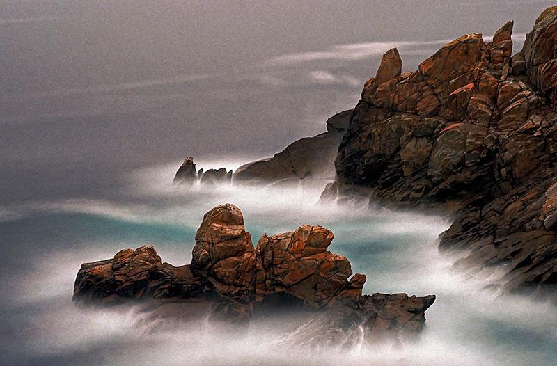 mouvement mer et échelle en photographie