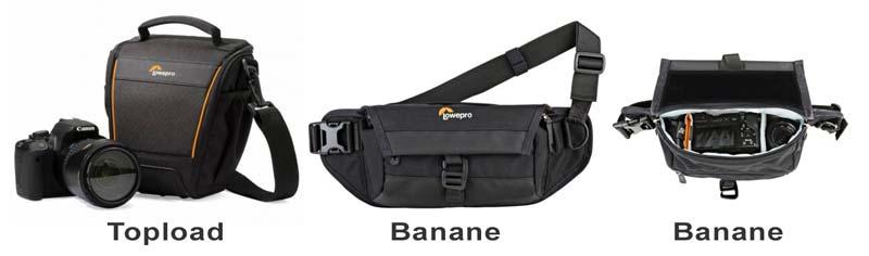 choisir son sac photo Topload et bananes
